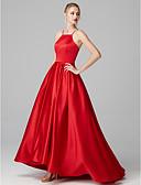 זול שמלות נשף-נשף צווארון Y שובל סוויפ \ בראש סאטן גבוה נמוך נשף רקודים / ערב רישמי שמלה עם קפלים על ידי TS Couture®
