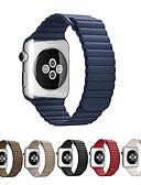 ราคาถูก วง Smartwatch-สายนาฬิกา สำหรับ Apple Watch Series 5/4/3/2/1 Apple สายห่วงหนัง หนังแท้ สายห้อยข้อมือ