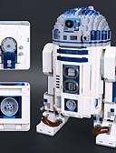 billige Zentai-R2-D2 Byggeklosser Konstruksjonssett Leker Pedagogisk leke 2127 pcs Klassisk Tema Robot kompatibel Legoing Stress og angst relief Focus Toy Gutt Jente Leketøy Gave
