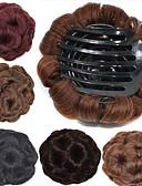Χαμηλού Κόστους Women's Tanks & Camisoles-Κομμάτι μαλλιών Λουλούδια Κότσος Μοδάτο Σχέδιο / Sexy Lady Κορδόνι Συνθετικά μαλλιά Κομμάτι μαλλιών Hair Extension Λουλούδια Καστανοκόκκινο / Φράουλα Ξανθιά  / φράουλα ξανθιά / Καστανό / Bleach Blonde
