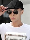 Χαμηλού Κόστους Women's Hats-Γιούνισεξ Μονόχρωμο Καραβόπανο Καρφί-Μπερές Άνοιξη Φθινόπωρο Μαύρο Λευκό