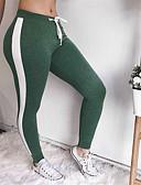 Χαμηλού Κόστους Κολάν-Γυναικεία Καθημερινά Αθλητικό Γκέτα - Μονόχρωμο, Φιόγκος Μεσαία Μέση Πράσινο του τριφυλλιού Μαύρο Γκρίζο M L XL