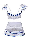 Χαμηλού Κόστους Κάλτσες & Καλσόν-Γυναικεία Δίχτυ Sexy Μπέιμπι-ντολ & Σλιπ / Ολόσωμη Φόρμα & Cheongsam / Σετ Εσώρουχα Πυτζάμες Συνδυασμός Χρωμάτων Μπλε Απαλό Ένα Μέγεθος / Βαθύ V