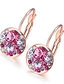 Χαμηλού Κόστους Quartz Ρολόγια-Γυναικεία Cubic Zirconia μικροσκοπικό διαμάντι Κρεμαστά Σκουλαρίκια Μοχλός πίσω σκουλαρίκια κυρίες Μοντέρνα Σκουλαρίκια Κοσμήματα Χρυσό Τριανταφυλλί / Ασημί Για Γάμου Καθημερινά