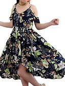 זול שמלות לבנות-שמלה ללא שרוולים דפוס פרחוני חוף מתוק בנות ילדים