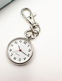 billiga Kvarts klockor-Dam Nyckelring klocka Pocket Scale Nurse Watch Quartz Silver Vardaglig klocka Ramtyp damer Vintage Mode minimalist - Silver Ett år Batteriliv / Tianqiu 377
