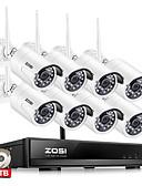 billige Bluser-zosi® 8ch 1080p trådløs cctv system 2tb hdd 2mp kraftig nvr ip ir-cut cctv kamera ip sikkerhetssystem overvåkningssett