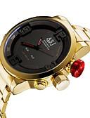 Χαμηλού Κόστους Μηχανικά Ρολόγια-ASJ Ανδρικά Αθλητικό Ρολόι Ψηφιακό ρολόι Ιαπωνικά Ψηφιακή Ανοξείδωτο Ατσάλι Χρυσό 30 m Ανθεκτικό στο Νερό Συναγερμός Ημερολόγιο Αναλογικό-Ψηφιακό Πολυτέλεια Μοντέρνα - Κόκκινο Μπλε / Δύο χρόνια