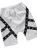 povoljno Hlače za dječake-Dijete koje je tek prohodalo Dječaci Osnovni Ulični šik Dnevno Sport Jednobojni Perlice Kratkih rukava Pamuk Kratke hlače Crn