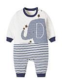 Χαμηλού Κόστους Baby Boys' One-Piece-Μωρό Αγορίστικα Βίντατζ Καθημερινά Μονόχρωμο Πεπαλαιωμένο Στυλ Μακρυμάνικο Βαμβάκι / Λινό / Ίνα Μπαμπού Ένα Κομμάτι Λευκό