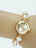 baratos Relógios de Pulseira-Mulheres Bracele Relógio Relógio de diamante Relogio Dourado Quartzo Dourada Com Strass imitação de diamante Analógico senhoras Amuleto Fashion Elegante - Dourado Um ano Ciclo de Vida da Bateria
