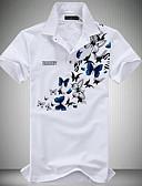 povoljno Muške polo majice-Polo Muškarci - Aktivan Dnevno Cvjetni print Kragna košulje Obala / Kratkih rukava