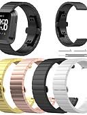 baratos Bandas de Smartwatch-Pulseiras de Relógio para Fitbit Versa Fitbit borboleta Buckle Aço Inoxidável Tira de Pulso