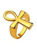 Χαμηλού Κόστους Αθλητικό Ρολόι-Ανδρικά Δαχτυλίδι για τη μέση των δαχτύλων Δακτυλίδι με σφραγίδα Χρυσό Μαύρο Ασημί Ανοξείδωτο Ατσάλι Μοντέρνα Καθημερινά Κοσμήματα Cruce
