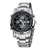 Χαμηλού Κόστους Πολυτελή Ρολόγια-ASJ Ανδρικά Αθλητικό Ρολόι Ψηφιακό ρολόι Χαλαζίας Ιαπωνικά Ψηφιακό Ανοξείδωτο Ατσάλι Ασημί 50 m Ανθεκτικό στο Νερό Συναγερμός Ημερολόγιο Αναλογικό-Ψηφιακό Πολυτέλεια Κλασσικό Μοντέρνα Στρατός -