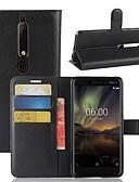 ราคาถูก เคสสำหรับโทรศัพท์มือถือ-Case สำหรับ โทรศัพท์ Nokia Nokia 9 / Nokia 8 / Nokia 7 Wallet / Card Holder / Flip ตัวกระเป๋าเต็ม สีพื้น Hard หนัง PU / Nokia 6