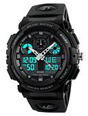 billige Quartz horlogesQuartz-SKMEI Herre Sportsklokke Japansk Digital Quiltet kunstlær Svart 50 m Vannavvisende Stoppeklokke Kul Analog-digital Grønn Blå Mørkerød