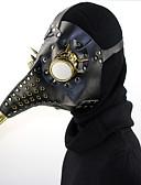 povoljno Zentai odijela-Maska za maskiranje Maska za Noć vještica Inspirirana Liječnik plague Steampunk Crn Ponašaj masku Punk Rave Halloween Muškarci Žene