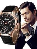 ราคาถูก นาฬิกาข้อมือหรูหรา-สำหรับผู้ชาย นาฬิกาตกแต่งข้อมือ สายการบิน PU Leather ดำ / เงิน โครโนกราฟ ปุ่มหมุนขนาดใหญ่ ระบบอนาล็อก ความหรูหรา คลาสสิก วินเทจ - ทอง / สีขาว White / สีเบจ Rose Gold / White / หนึ่งปี / สแตนเลส