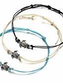 Χαμηλού Κόστους T-shirt-Γυναικεία Βραχιόλια με Φυλαχτά Χελώνα κυρίες Απλός Etnic Ίνα Βραχιόλι Κοσμήματα Λευκό / Μαύρο / Μπλε Για Καθημερινά Δρόμος