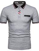 povoljno Prsluci-Polo Muškarci - Osnovni Dnevno Pamuk Color block Kragna košulje Crn / Kratkih rukava / Ljeto