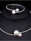 povoljno Haljine za majku mlade-Žene Svadbeni nakit Setovi Klasičan Moda Elegantno Imitacija bisera Naušnice Jewelry Obala Za Vjenčanje Party 1set
