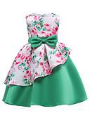 זול שמלות לבנות-שמלה ללא שרוולים פפיון / דפוס פרחוני / טלאים Party / ליציאה בנות ילדים / כותנה / חמוד