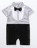 ราคาถูก เคสสำหรับโทรศัพท์มือถือ-ทารก เด็กผู้ชาย พื้นฐาน ทุกวัน สีพื้น แขนสั้น ปกติ ฝ้าย ชุดเสื้อผ้า สีดำ