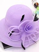 ราคาถูก หมวกสตรี-สำหรับผู้หญิง Kentucky Derby ลายพิมพ์ ตารางไขว้ ลูกไม้,น่ารัก-ดวงอาทิตย์หมวก ทุกฤดู สีกากี สีน้ำเงินกรมท่า ตะพุ่น / ผ้า