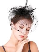 olcso Női ruhák-Női Kentucky Derby Vintage Elegáns Fejfedők kalap Esküvő Parti - Egyszínű / Minden évszak