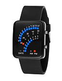 Χαμηλού Κόστους Quartz Ρολόγια-Ανδρικά Γυναικεία Ψηφιακό ρολόι Ψηφιακή σιλικόνη Μαύρο / Λευκή / Μπλε 30 m Ανθεκτικό στο Νερό LCD Κινούμενα σχέδια 3D Ψηφιακό Απίθανο Κομψό - Μαύρο Κόκκινο Μπλε Ενας χρόνος Διάρκεια Ζωής Μπαταρίας