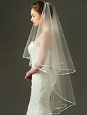 ราคาถูก ม่านสำหรับงานแต่งงาน-ชั้นเดียว ตาข่าย / ชุดเดรสเปลี่ยนสไตล์ได้ / เครื่องประดับศรีษะ ผ้าคลุมหน้าชุดแต่งงาน ผ้าคลุมศรีษะสำหรับชุดแต่งงาน กับ ตะเข็บ / Splicing 70.87 นิ้ว (180ซม.) POLY / Tulle / Oval