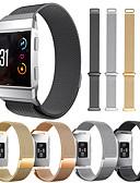 baratos Bandas de Smartwatch-Pulseiras de Relógio para Fitbit ionic Fitbit Pulseira Estilo Milanês Aço Inoxidável Tira de Pulso