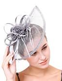 ราคาถูก หมวกสตรี-สำหรับผู้หญิง Kentucky Derby วินเทจ สง่างาม ฮารด์แวร์ หมวก งานแต่งงาน ปาร์ตี้ - สีพื้น / ทุกฤดู