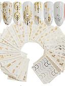 Χαμηλού Κόστους φύλλο Χαρτί-30 pcs Τεχνητές Συμβουλές για τα Νύχια Κιτ νυχιών Αυτοκόλλητα τέχνη νυχιών Μανικιούρ Πεντικιούρ Φορητά Τα αυτοκόλλητα των νυχιών Καθημερινά