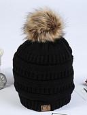 povoljno Ženski šeširi-Žene Jednobojni Aktivan Pamuk-Šešir širokog oboda Jesen Zima Sive boje Lila-roza Žutomrk
