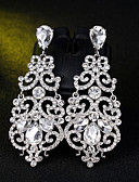billige Gensere og hettegensere til damer-Dame Dråpeøreringer Blomst Enkel Europeisk Mote øredobber Smykker Sølv Til Bryllup Daglig