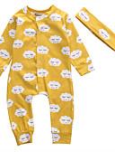 זול אוברולים טריים לתינוקות-מקשה אחת One-pieces כותנה שרוול קצר אחיד בסיסי יוניסקס תִינוֹק