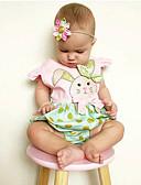 זול אוברולים טריים לתינוקות-חליפת גוף שרוול קצר מנוקד / דפוס / קולור בלוק חגים פעיל בנות תִינוֹק / חמוד / פעוטות