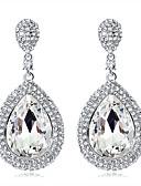 billiga Brudsjalar-Dam Dropp Örhängen Enkel Europeisk Mode örhängen Smycken Silver Till Bröllop Dagligen
