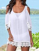 ราคาถูก ชุดว่ายน้ำและบิกินีผู้หญิง-สำหรับผู้หญิง พื้นฐาน ไหล่ตก ขาว สีดำ ผ้าพันผมสตรี Thong รวมด้วย ชุดว่ายน้ำ - สีพื้น ขนาดเดียว ขาว