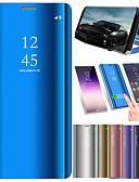 ราคาถูก เคสสำหรับโทรศัพท์มือถือ-Case สำหรับ Huawei Huawei P20 / Huawei P20 Pro / Huawei P20 lite with Stand / Plating / Mirror ตัวกระเป๋าเต็ม สีพื้น Hard หนัง PU / P10 Plus / P10 Lite / P10