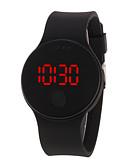 رخيصةأون ساعات رقمية-رجالي نسائي ساعة رقمية رقمي سيليكون أسود / الأبيض / أزرق 30 m مقاوم للماء LCD 3Dكرتون رقمي كوول أنيق - أحمر أخضر أزرق سنة واحدة عمر البطارية