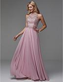 Χαμηλού Κόστους Βραδινά Φορέματα-Γραμμή Α Με Κόσμημα Μακρύ Σιφόν Κομψό / Χρώματα Pastel / Beaded & Sequin Χοροεσπερίδα / Επίσημο Βραδινό Φόρεμα 2020 με Χάντρες / Που καλύπτει