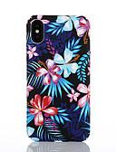 זול מגנים לאייפון-מגן עבור Apple iPhone X / iPhone 8 Plus / iPhone 8 תבנית כיסוי אחורי פרח קשיח PC