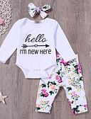 povoljno Kompletići za bebe-Dijete Djevojčice Aktivan Dnevno Print Dugih rukava Duga Pamuk Komplet odjeće Obala / Dijete koje je tek prohodalo