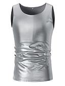 ราคาถูก เสื้อยืดและเสื้อกล้ามผู้ชาย-สำหรับผู้ชาย เสื้อกล้าม พื้นฐาน Sport - ฝ้าย คอกลม สีพื้น สีทอง / เสื้อไม่มีแขน / ฤดูร้อน