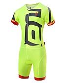 Χαμηλού Κόστους Εξωτικά ανδρικά εσώρουχα-Malciklo Ανδρικά Ολόσωμη στολή για τρίαθλο Μαύρο Πράσινο / Κίτρινο Λευκό Συμπαγές Χρώμα Ποδήλατο Ρούχα σύνολα Γρήγορο Στέγνωμα Ανατομικός Σχεδιασμός Υπεριώδης Αντίσταση Αντανακλαστικές Λωρίδες