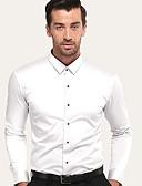 זול טוקסידו-אחיד עסקים / בסיסי Party / עבודה כותנה, חולצה - בגדי ריקוד גברים לבן / שרוולים קצרים / שרוול ארוך