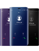 Χαμηλού Κόστους Αξεσουάρ Samsung-tok Για Samsung Galaxy A5(2018) / A6 (2018) / Galaxy A7(2018) Επιμεταλλωμένη / Καθρέφτης / Ανοιγόμενη Πλήρης Θήκη Μονόχρωμο Σκληρή Σιλικόνη